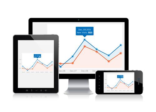 Ilustração sobre consultoria em análise de visitação, usabilidade e otimização de sites - seo